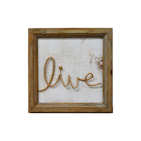 Live Gold Sign