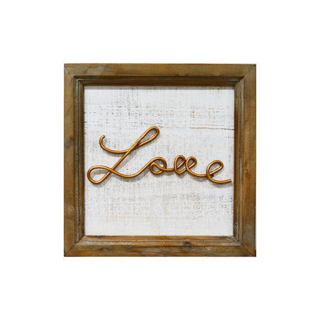 Love Gold Sign
