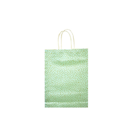 Gift Bag Starry Night Mint & Gold 16 x 20cm