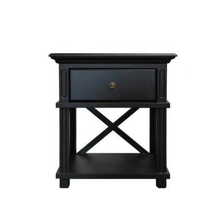 Suffolk Black Bedside Table