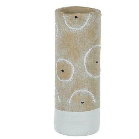 Sierra Ceramic Vase Large Natural/ White