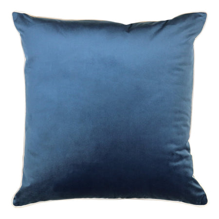 Clifton Ink Velvet Piped Cushion Square