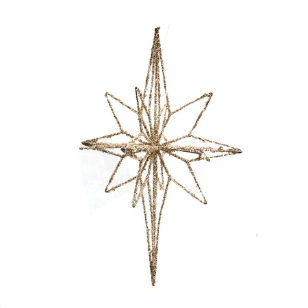Ornament Star With Lights Large Gold 75cm