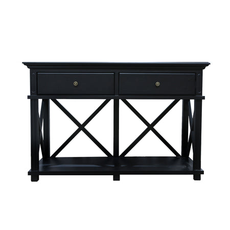 Suffolk Black 2 Drawer Console