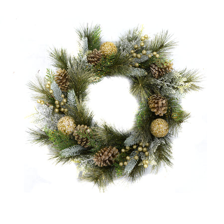 Gold Acorn Christmas Wreath