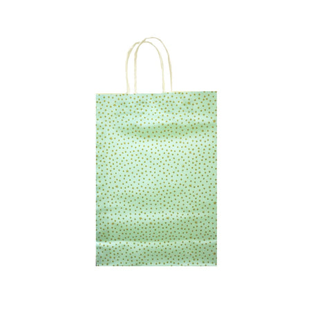 Gift Bag Starry Night Mint/Gold 25x35cm