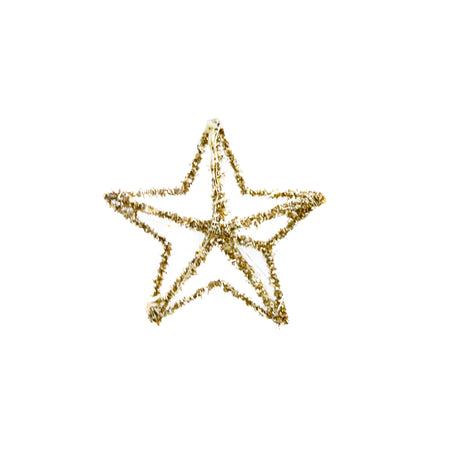 Star Ornament With Lights Gold Small 15cm
