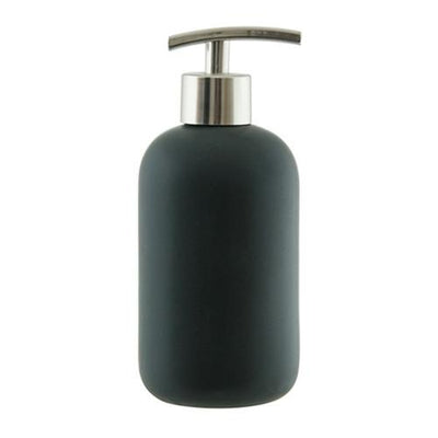 Salt & Pepper Suds 425mL Black Ceramic Soap Dispenser