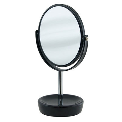 Salt & Pepper Suds 30cm Double Sided Mirror Black Base