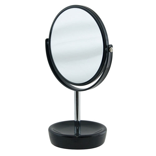 S&P SUDS 30CM DOUBLE SIDED MIRROR BLACK BASE