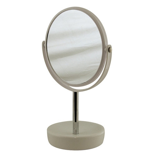 SUDS Double Sided Mirror w/ Ceramic Base - Latte - 30cm