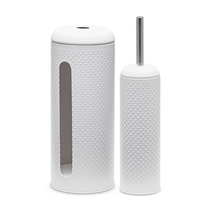 Spot brush/holder set White