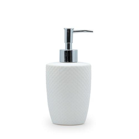 Salt & Pepper Emboss Soap Dispenser White