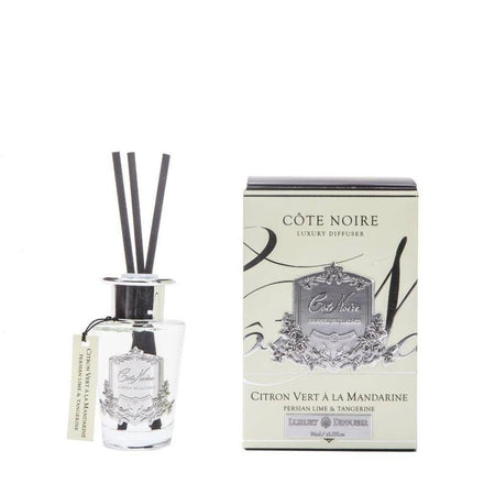 Cote Noire Diffuser Silver Persian Lime and Tangerine 90ml
