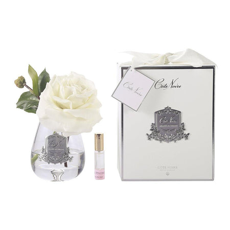 Cote Noire Perfumed Tea Rose Ivory - Clear Glass
