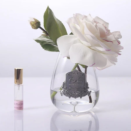 Cote Noire Perfumed Tea Rose Pink Blush - Clear Glass