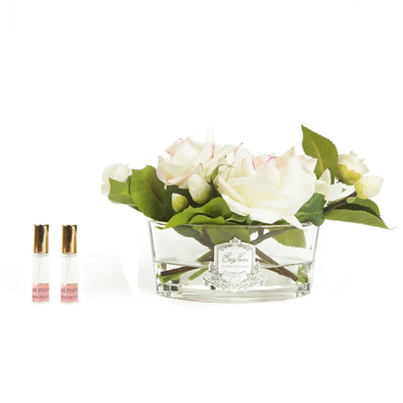 Cote Noire Perfumed Oval Blush Rose - Clear Glass