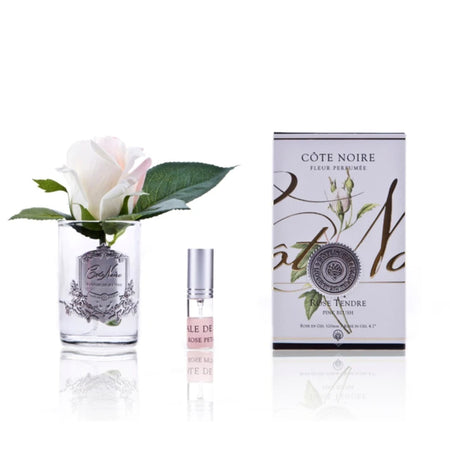 Cote Noire Perfumed Rose Bud Pink Blush - Clear Glass