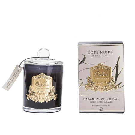 Cote Noire Salted Butter Caramel Gold Candle 450g
