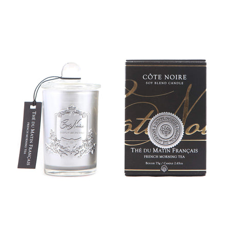 Cote Noire French Morning Tea Silver Candle 75g