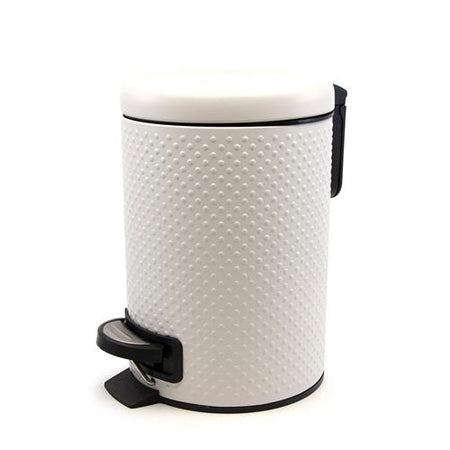 Salt & Pepper Spot Pedal Bin White 3L