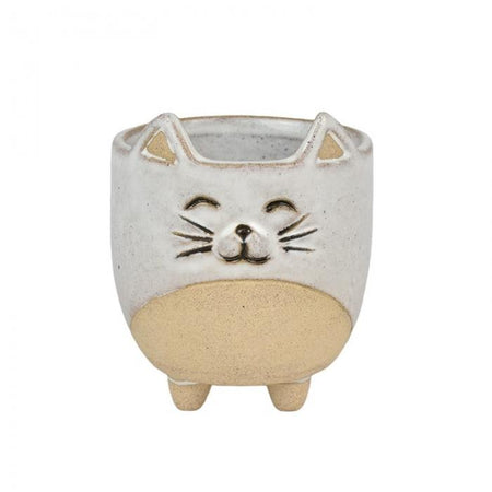 Connie Cat Ceramic Pot Small