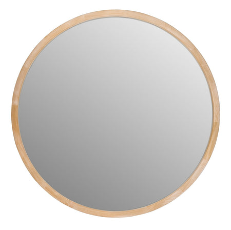 Tina Round Mirror Light Wood