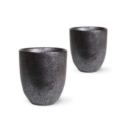 Latte Cups 2 Pack Earth Black