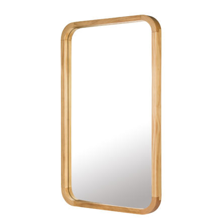 Tina Rectangle Mirror Light Wood Large