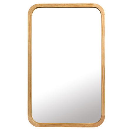Tina Rectangle Mirror Light Wood Small