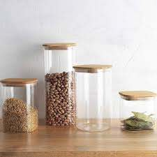 Ecology Pantry Square Canister Set Of 4 Assorted Sizes