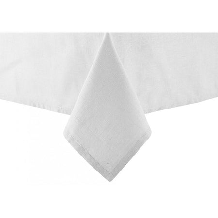 Base Linen Look White Tablecloth