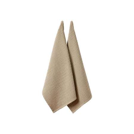 Eco Recycled Taupe 2 pack Kitchen Towel