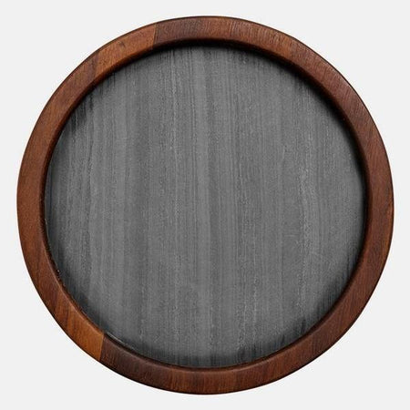 Buckley Black Round Serving Board