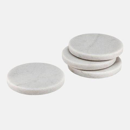 Buckley White 4pk Coaster