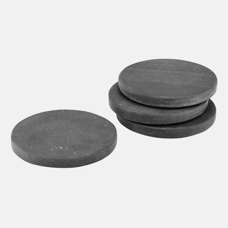 Buckley Black 4pk Coaster