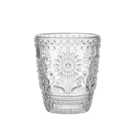 Sunflower Clear Glass Tumbler