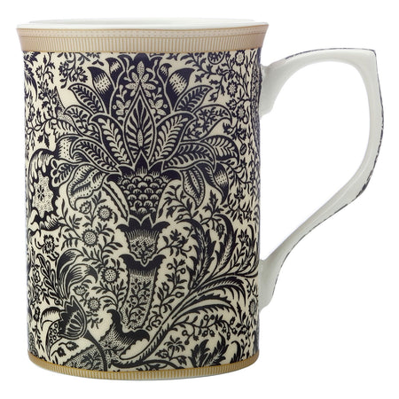 William Morris Mug Black Seaweed