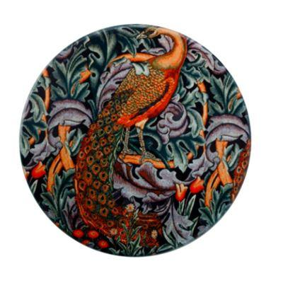 William Morris Ceramic Coaster Peacock