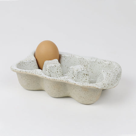 Egg Crate 6 Cup White Garden to Table