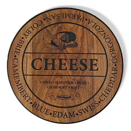 Salt & Pepper Fromage 40cm Round Wooden Board