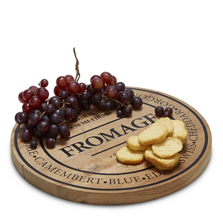 Salt & Pepper Fromage Round Wooden Board 28cm
