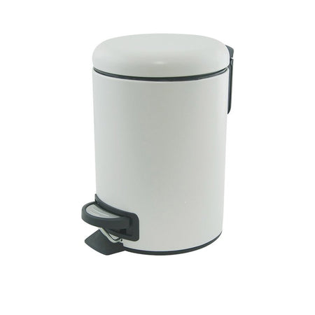 Salt & Pepper Suds Pedal Push Bin White