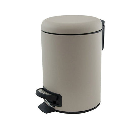Salt & Pepper Suds Pedal Push Bin Latte