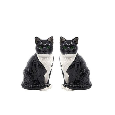 Salt & Pepper Animalia Black & White Cat Set of 2