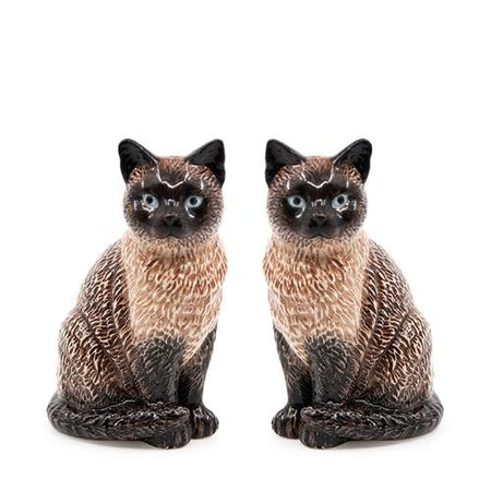 Salt & Pepper Animalia Siamese Cat Set of 2