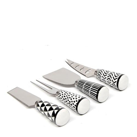 Salt & Pepper Empire Cheese Knife Setceramic Handle Set of 4
