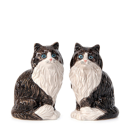 Salt & Pepper Animalia Fluffy Black & White Set of 2
