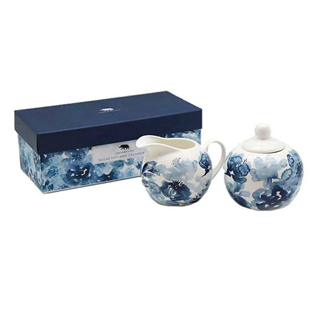 Blue Chinoiserie Sugar & Creamer Set