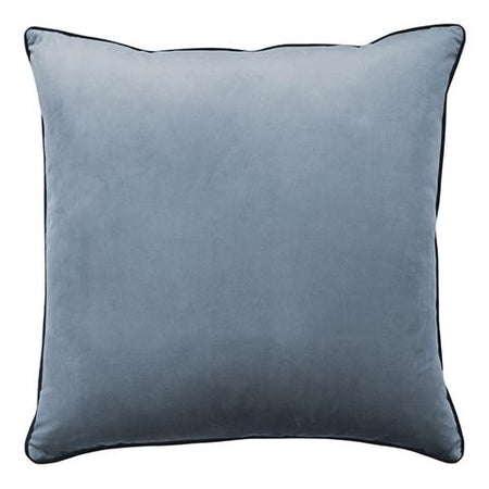 Clifton Glacier Velvet Piped Cushion Square